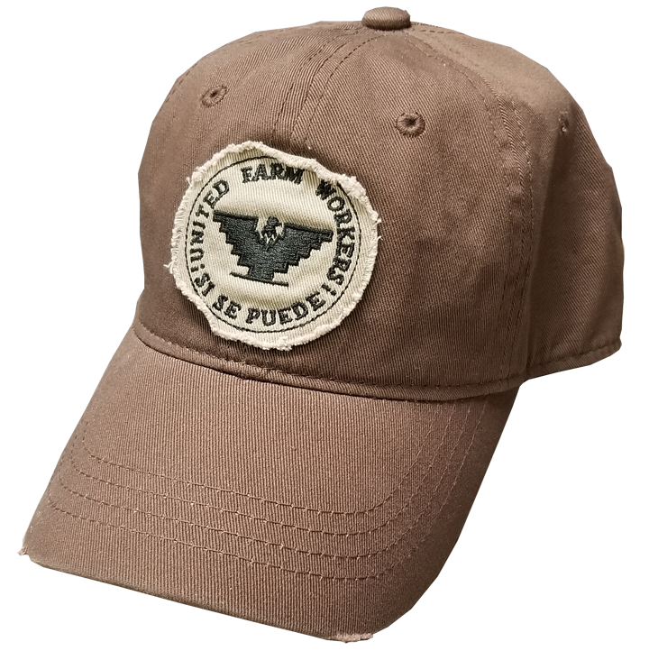 Distressed Brown Cap with Logo Patch