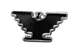 Silver-Tone Eagle Lapel Pin