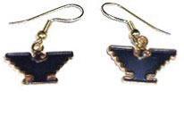 Gold-Tone Eagle Earrings