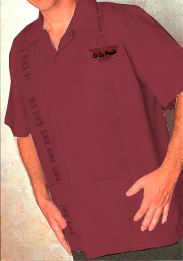Guayabera w/Embroidered UFW Eagle, Short Sleeve