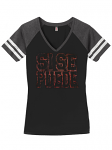 Vintage Style Ladies Game Tee Black