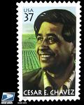 Cesar E Chavez Stamp Poster