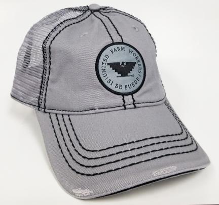 Distressed Gray Mesh Cap