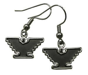 Silver-Tone Eagle Earrings