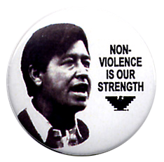 Non-Violence Button