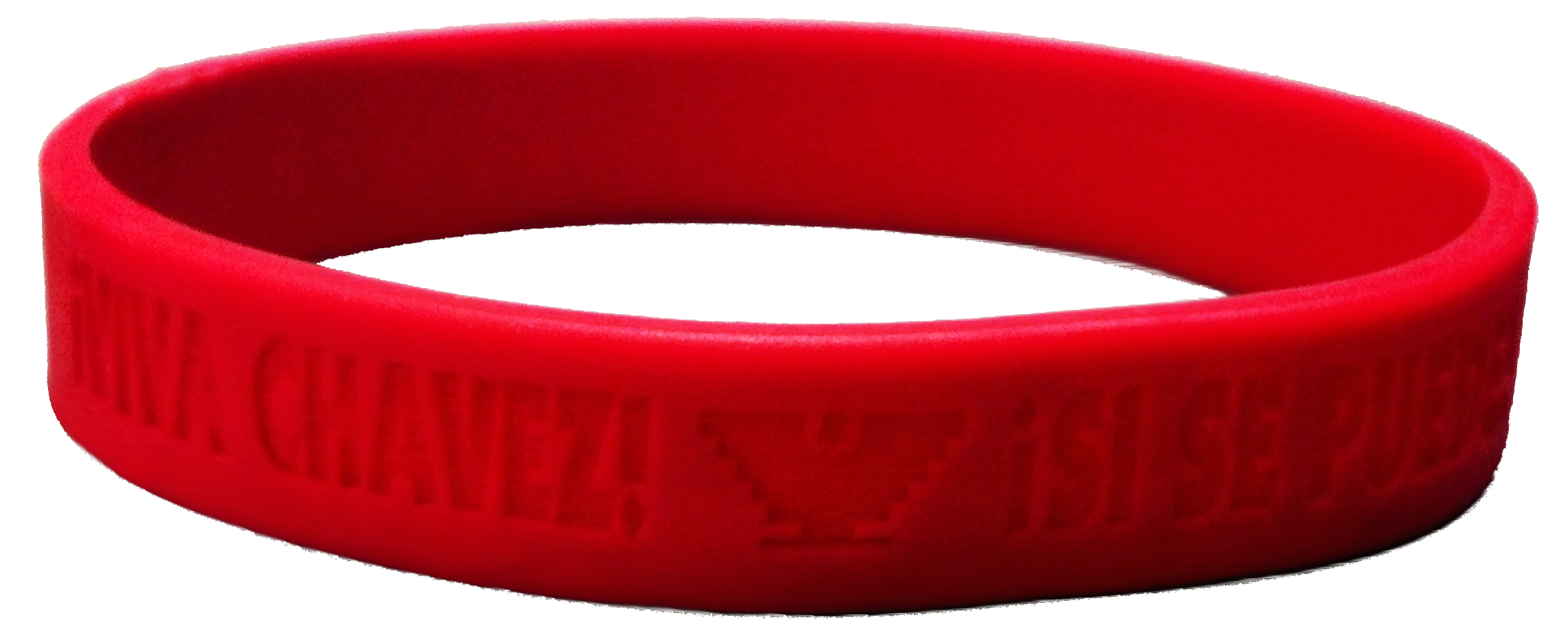 """Wristband, Red,""""Viva Chavez"""" Si Se Puede"""