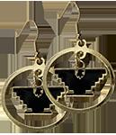 Gold Hoop Earrings with Eagle