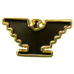 Gold-Tone Eagle Lapel Pin