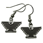Silver-Tone Eagle Earrings