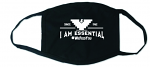 I Am Essential Face Mask in Black