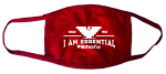 I Am Essential Face Mask in Red