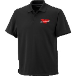 Black Polo Shirt w/Embroidered Eagle